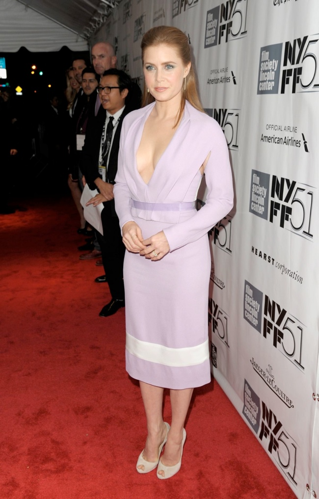 amy adams3 Amy Adams in Prabal Gurung at the NYFF Presentation of Her
