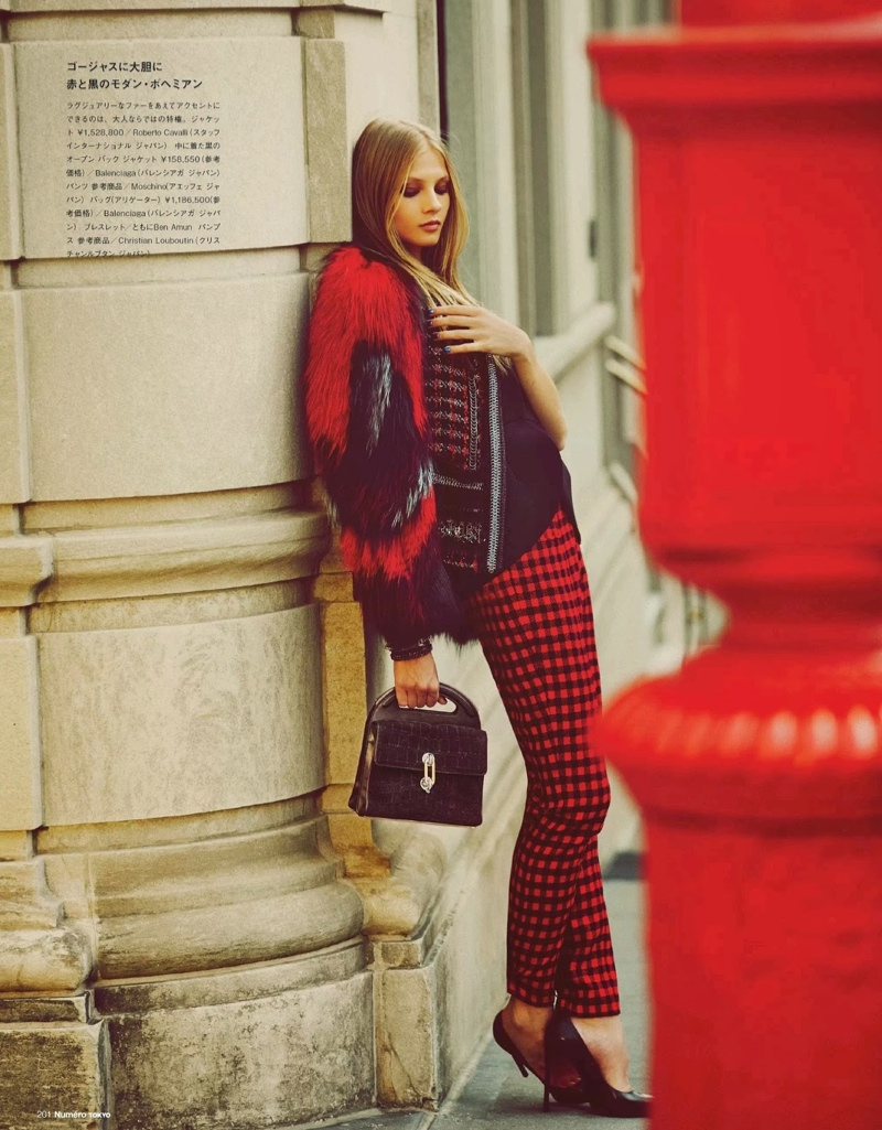 anna selezneva images10 Anna Selezneva Hits the Streets for Guy Aroch in Numéro Tokyo Shoot