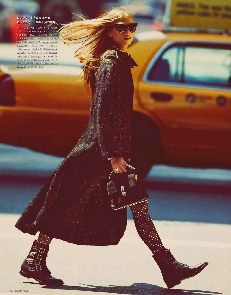 anna selezneva images2 Anna Selezneva Hits the Streets for Guy Aroch in Numéro Tokyo Shoot