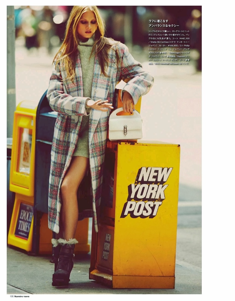 anna selezneva images4 Anna Selezneva Hits the Streets for Guy Aroch in Numéro Tokyo Shoot