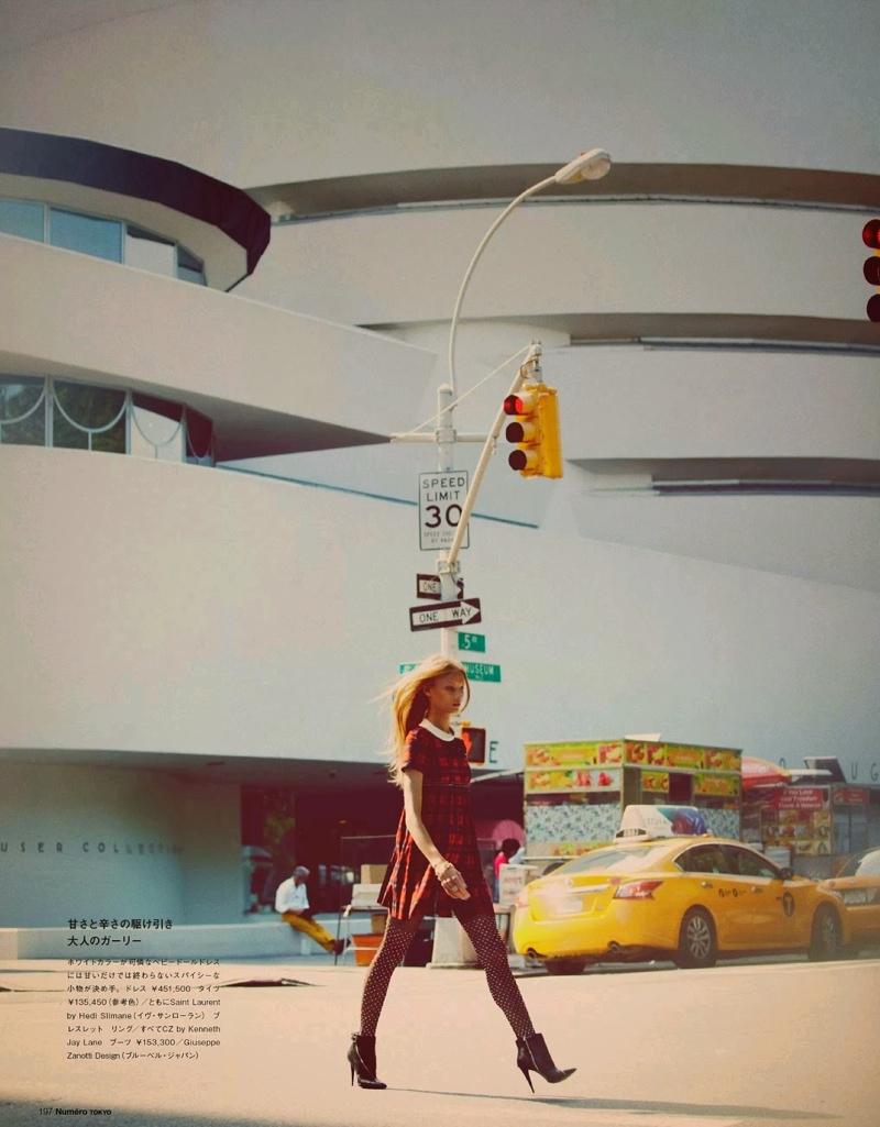 Anna Selezneva Hits the Streets for Guy Aroch in Numéro Tokyo Shoot