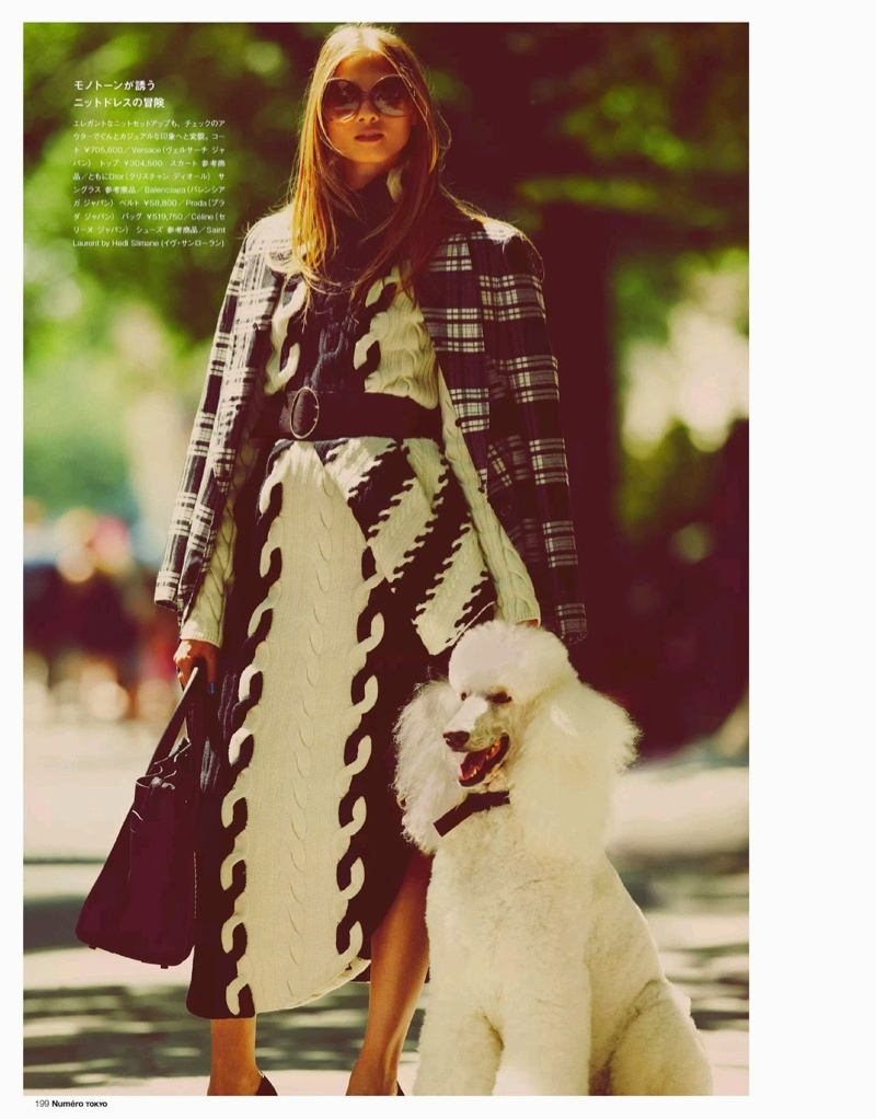 anna selezneva images8 Anna Selezneva Hits the Streets for Guy Aroch in Numéro Tokyo Shoot