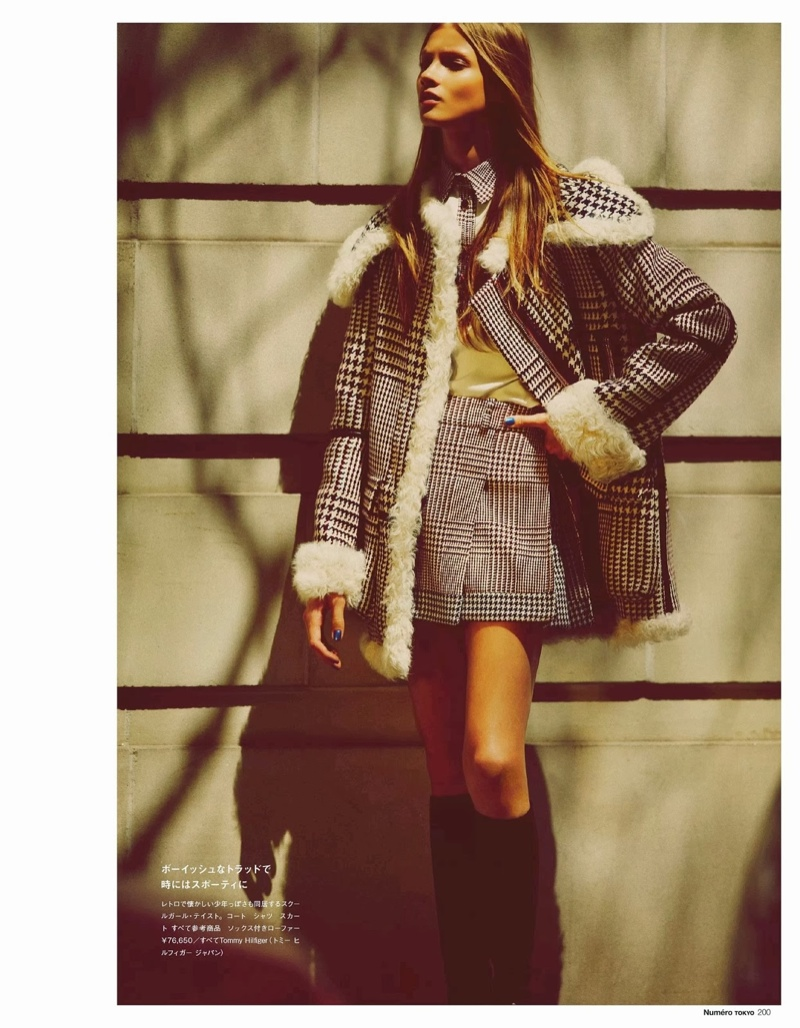 anna selezneva images9 Anna Selezneva Hits the Streets for Guy Aroch in Numéro Tokyo Shoot