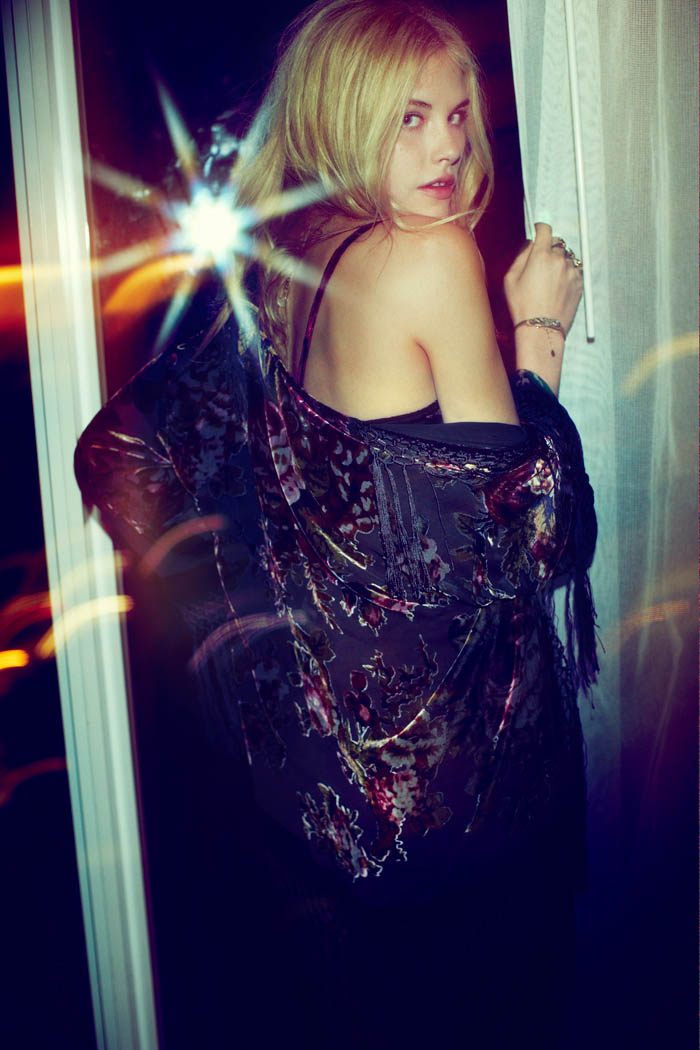 "Ashley Smith Stars in ""After Dark"" for Free People's October Lookbook"