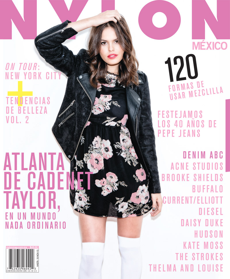 atlanta nylon shoot Atlanta De Cadenet Appears in Nylon Mexico October 2013 Cover Story