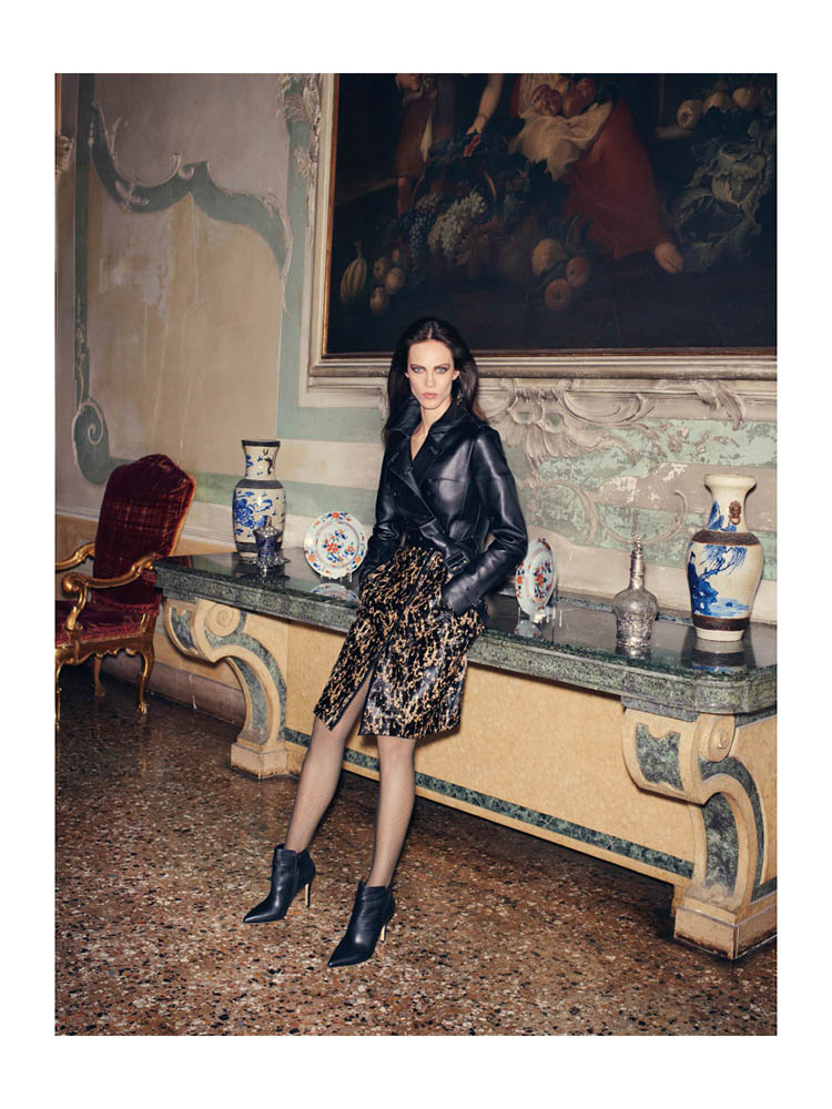 Aymeline Valade Poses for Bergdorf Goodman's Fall Issue by Venetia Scott