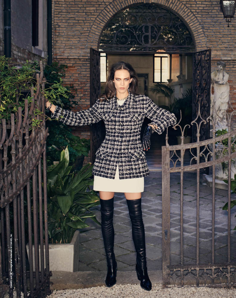 aymeline valade model8 Aymeline Valade Poses for Bergdorf Goodmans Fall Issue by Venetia Scott