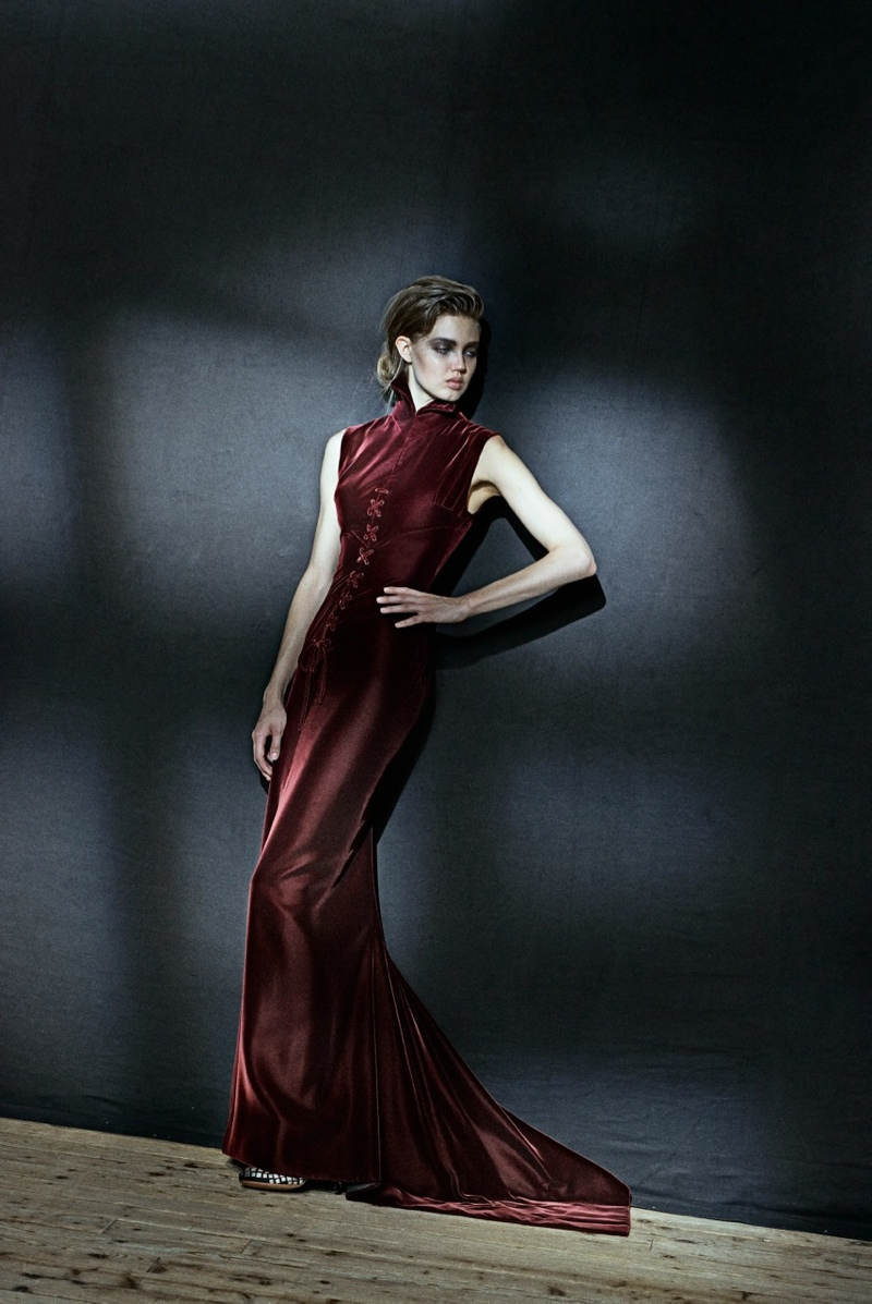 Lindsey Wixson Poses for Azzedine Alaia Retrospective by Peter Lindbergh