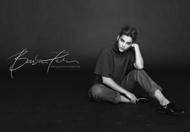 Barbara Palvin is a Beauty in Black & White for Krisztián Éder Shoot