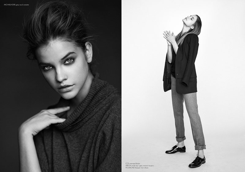barbara black white shoot3 Barbara Palvin is a Beauty in Black & White for Krisztián Éder Shoot