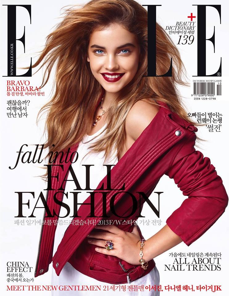 Barbara Palvin Stars in the October Cover Story of Elle Korea
