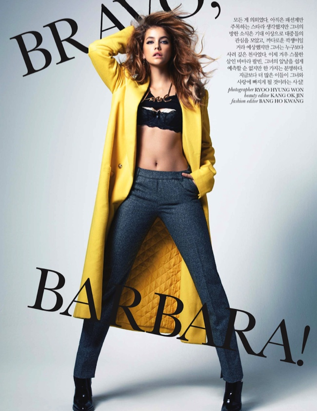 barbara palvin bravo2 Barbara Palvin Stars in the October Cover Story of Elle Korea