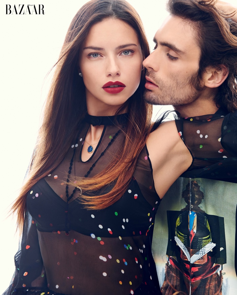 bazaar love shoot1 Adriana Lima, Miranda Kerr + More Get Romantic for Harpers Bazaar Spread