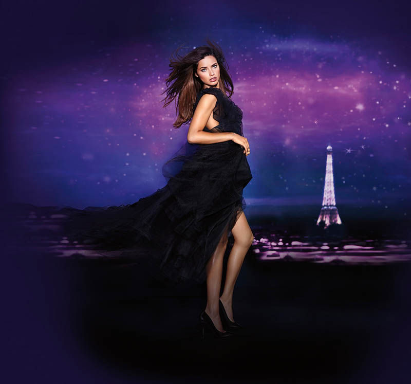 beauty night vs2 Adriana Lima Fronts Night Fragrance Campaign for Victorias Secret