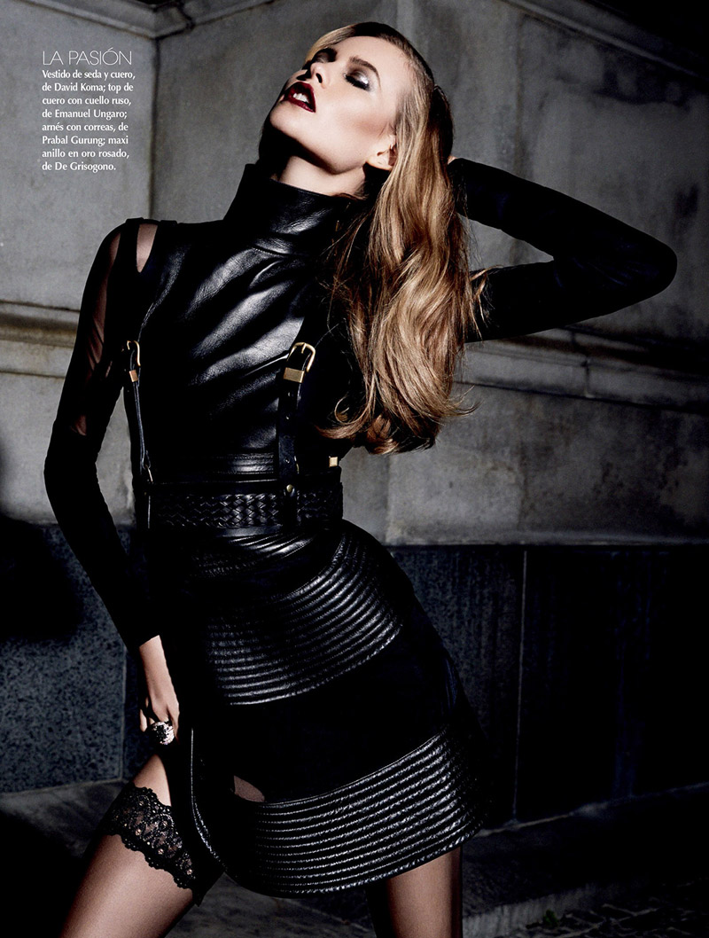 Behati Prinsloo is a Vixen in Black for Vogue Mexico by David Roemer