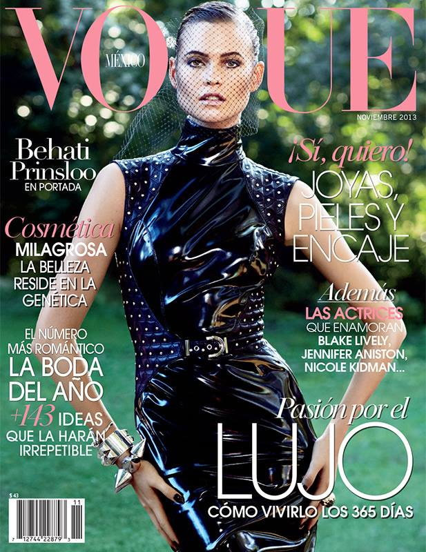 behati prinsloo vogue cover Behati Prinsloo Covers Vogue Mexico November 2013 in Versace