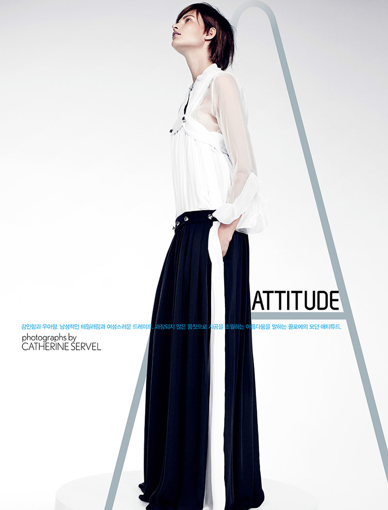 bette franke catherine servel1 Bette Franke Gets Boyish in Chloe for W Korea by Catherine Servel