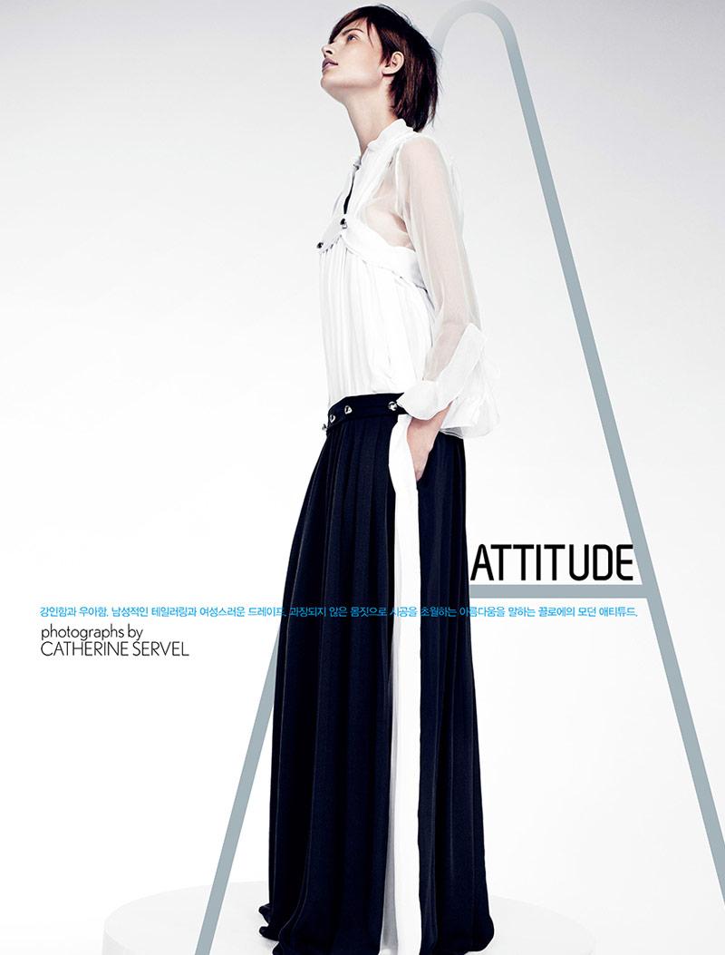 Bette Franke Gets Boyish in Chloe for W Korea by Catherine Servel