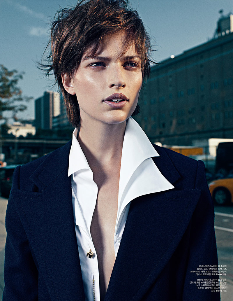 bette franke catherine servel2 Bette Franke Gets Boyish in Chloe for W Korea by Catherine Servel