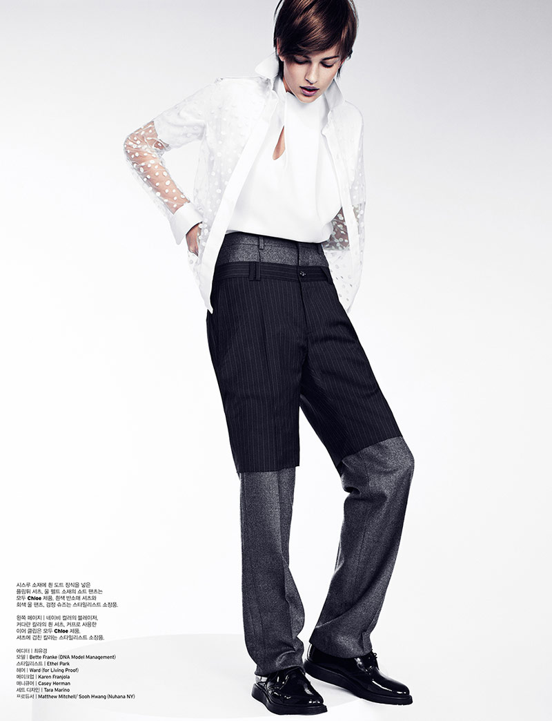 bette franke catherine servel8 Bette Franke Gets Boyish in Chloe for W Korea by Catherine Servel
