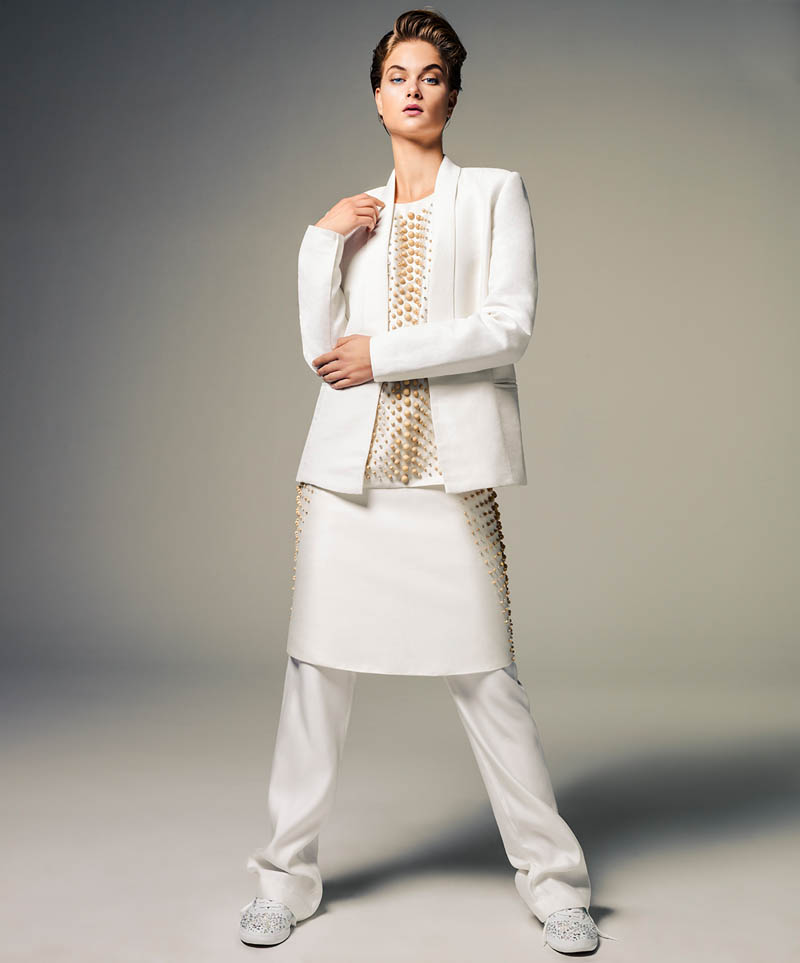 bo don jacques dequeker4 Bo Don Wears All White for Vogue Brazil by Jacques Dequeker