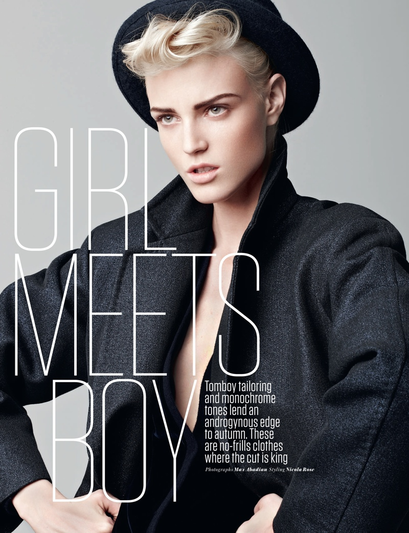 boy meets girl1 Sam Rayner Plays a Tomboy for Red UK October 2013 by Max Abadian