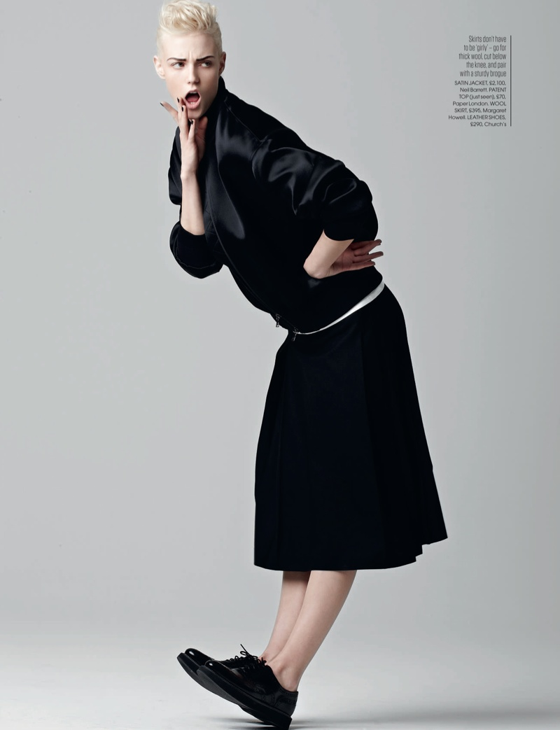 Sam Rayner Plays a Tomboy for Red UK October 2013 by Max Abadian