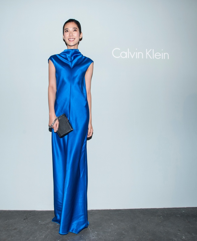 Tao Okamoto at the Calvin Klein Patinum Showing