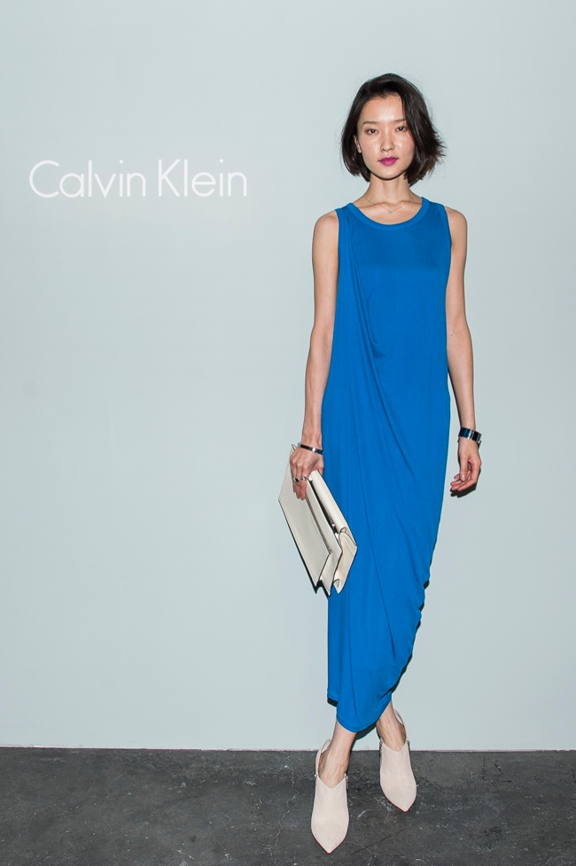 Du Juan at the Calvin Klein Patinum Showing