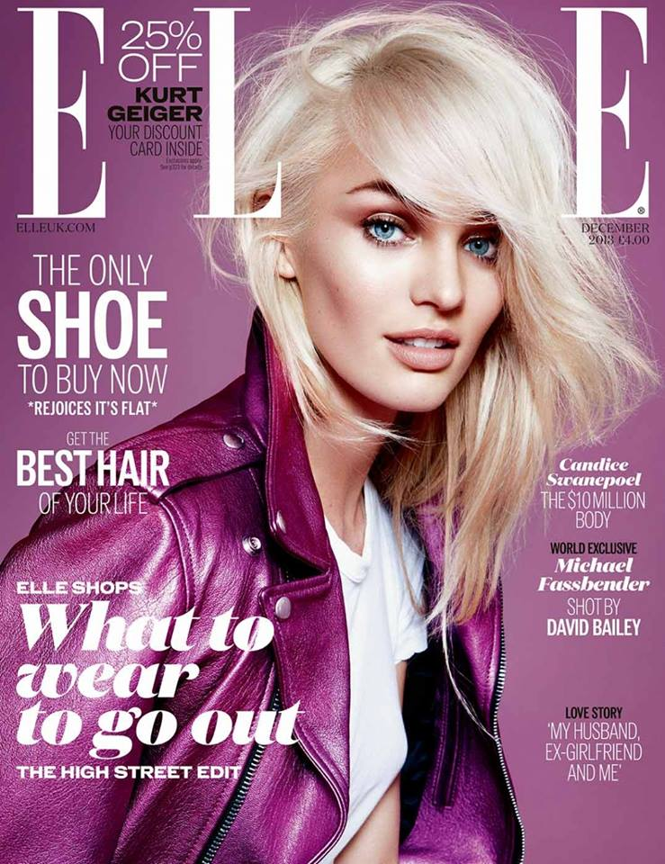 candice cover Candice Swanepoel Mixes & Matches for the December Issue of Elle UK