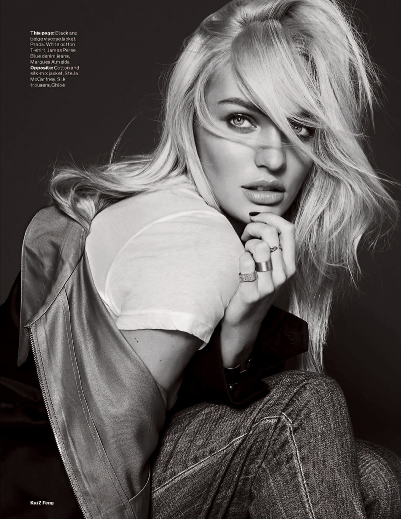 candice kai z feng6 Candice Swanepoel Mixes & Matches for the December Issue of Elle UK