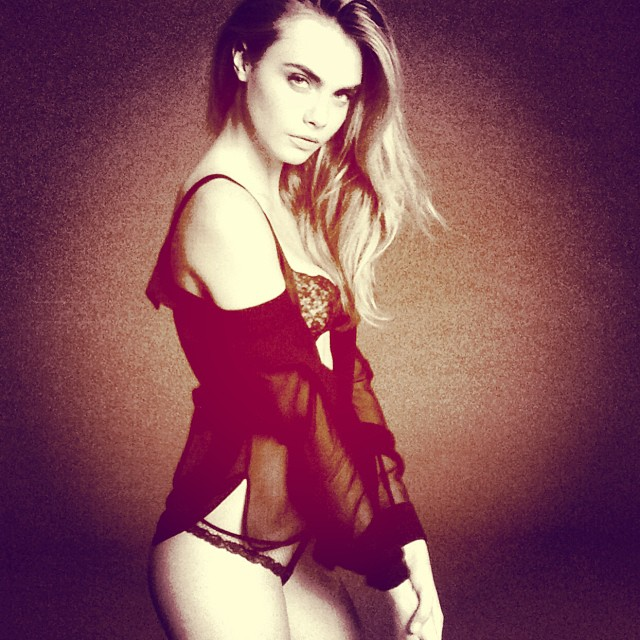 cara delevingne la perla instagram Cara Delevingne is the New Face of La Perla Lingerie