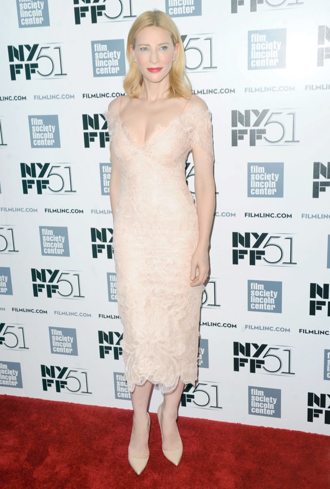 Cate Blanchett Wears Armani Prive at the 51st New York Film Festival