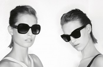 Nadja Bender + Ashleigh Good Front Chanel Prestige Eyewear Ads by Karl Lagerfeld