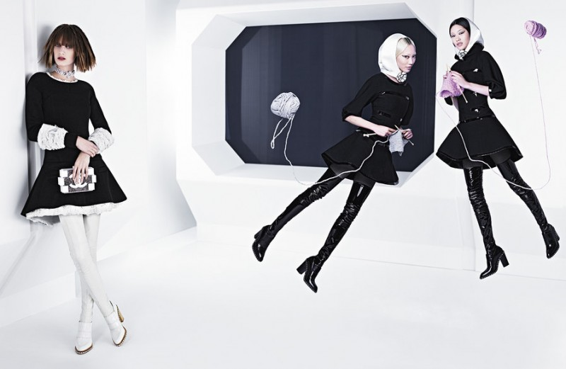 chanel fall 2013 campaign 1 800x521 Karl Lagerfeld Shoots Chanel Fall 2013 Campaign Starring Soo Joo, Chiharu Okunugi + Ashleigh Good