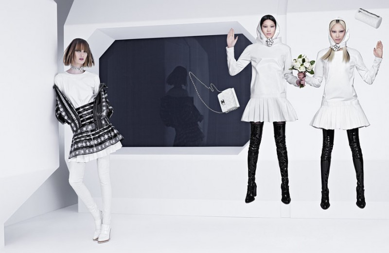chanel fall 2013 campaign 2 800x521 Karl Lagerfeld Shoots Chanel Fall 2013 Campaign Starring Soo Joo, Chiharu Okunugi + Ashleigh Good