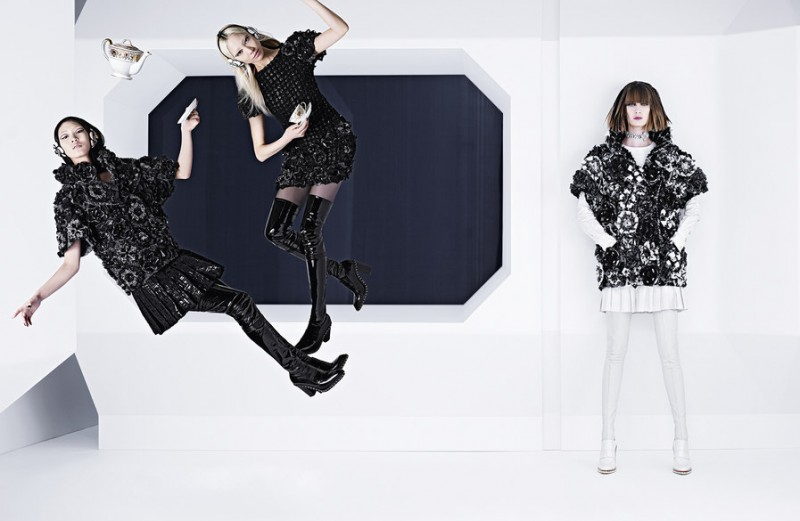 chanel fall 2013 campaign 3 800x521 Karl Lagerfeld Shoots Chanel Fall 2013 Campaign Starring Soo Joo, Chiharu Okunugi + Ashleigh Good