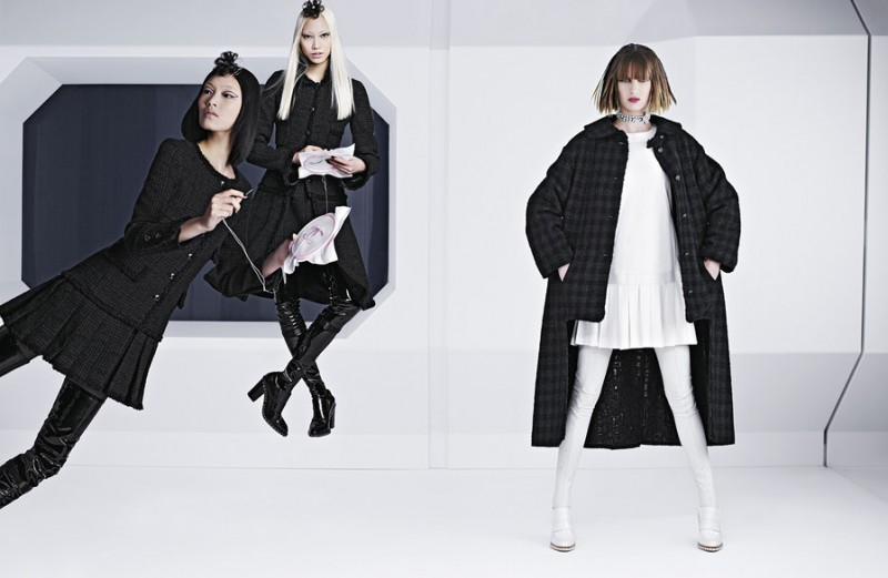 chanel fall 2013 campaign 4 800x521 Karl Lagerfeld Shoots Chanel Fall 2013 Campaign Starring Soo Joo, Chiharu Okunugi + Ashleigh Good