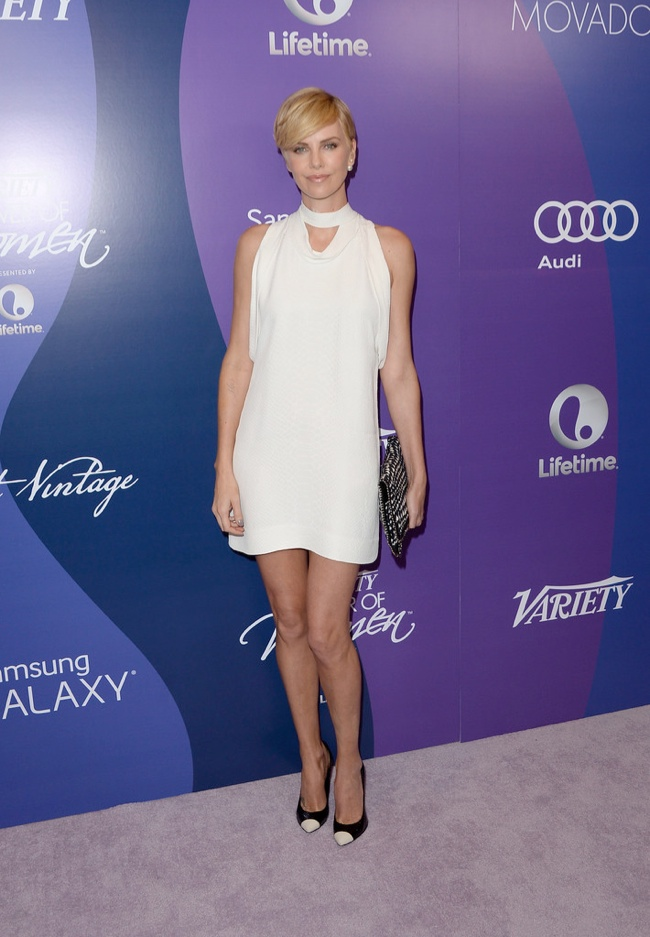 charlize stella mccartney1 Charlize Theron Wears Stella McCartney at Varietys 5th Annual Power of Women Event