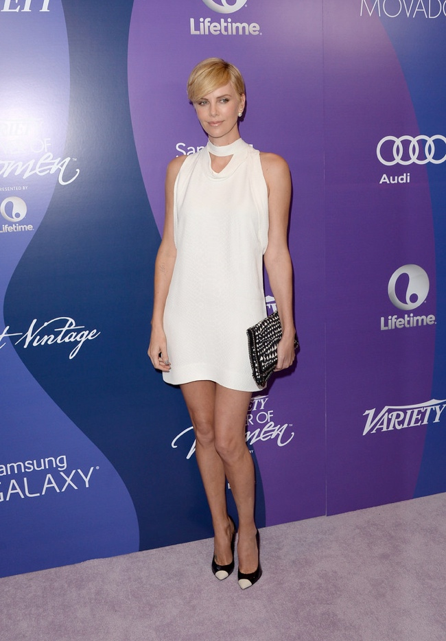 Charlize Theron Wears Stella McCartney at Variety's 5th Annual Power of Women Event