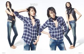 Chiharu Okunugi Wears Diesel for Numero Tokyo Shoot by Yasunari Kikuma