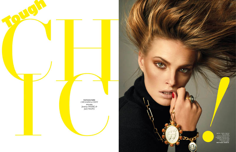 chuando frey1 Vlada Saulchenkova Gets Glam for Chuando & Frey in LOfficiel Singapore Shoot