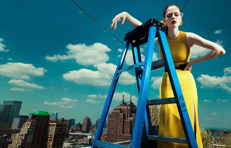 coco rocha fashion1 Coco Rocha Wows in Fall Looks for Harpers Bazaar China Cover Story
