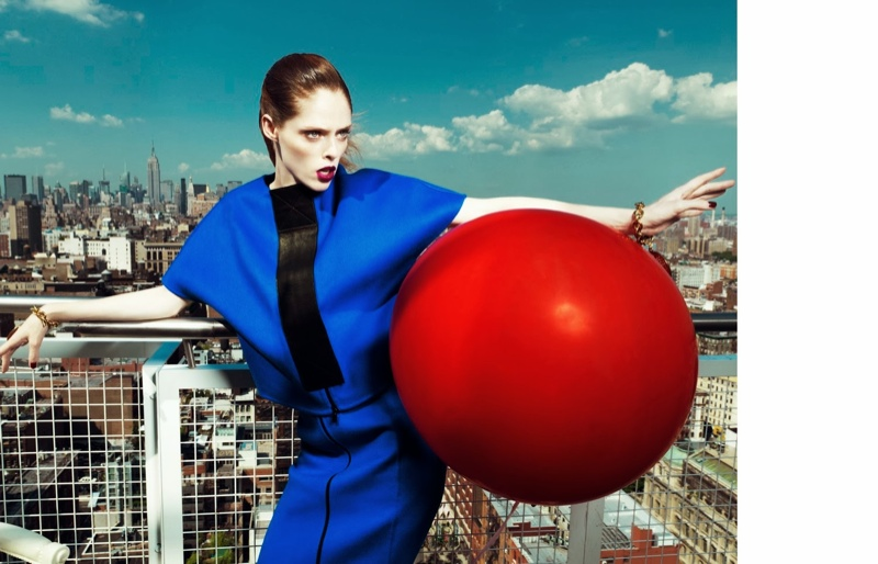 coco rocha fashion3 Coco Rocha Wows in Fall Looks for Harpers Bazaar China Cover Story