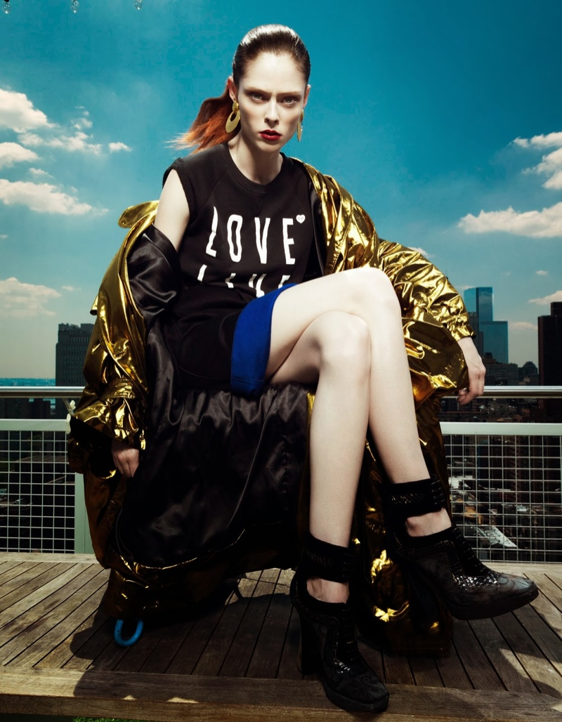 coco rocha fashion5 Coco Rocha Wows in Fall Looks for Harpers Bazaar China Cover Story