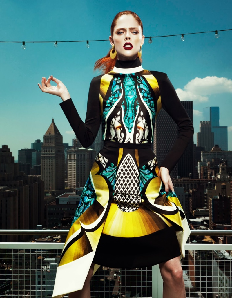 coco rocha fashion6 Coco Rocha Wows in Fall Looks for Harpers Bazaar China Cover Story