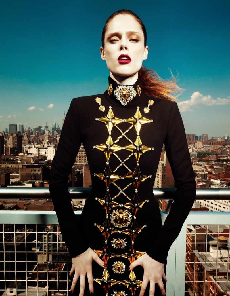 coco rocha fashion7 Coco Rocha Wows in Fall Looks for Harpers Bazaar China Cover Story