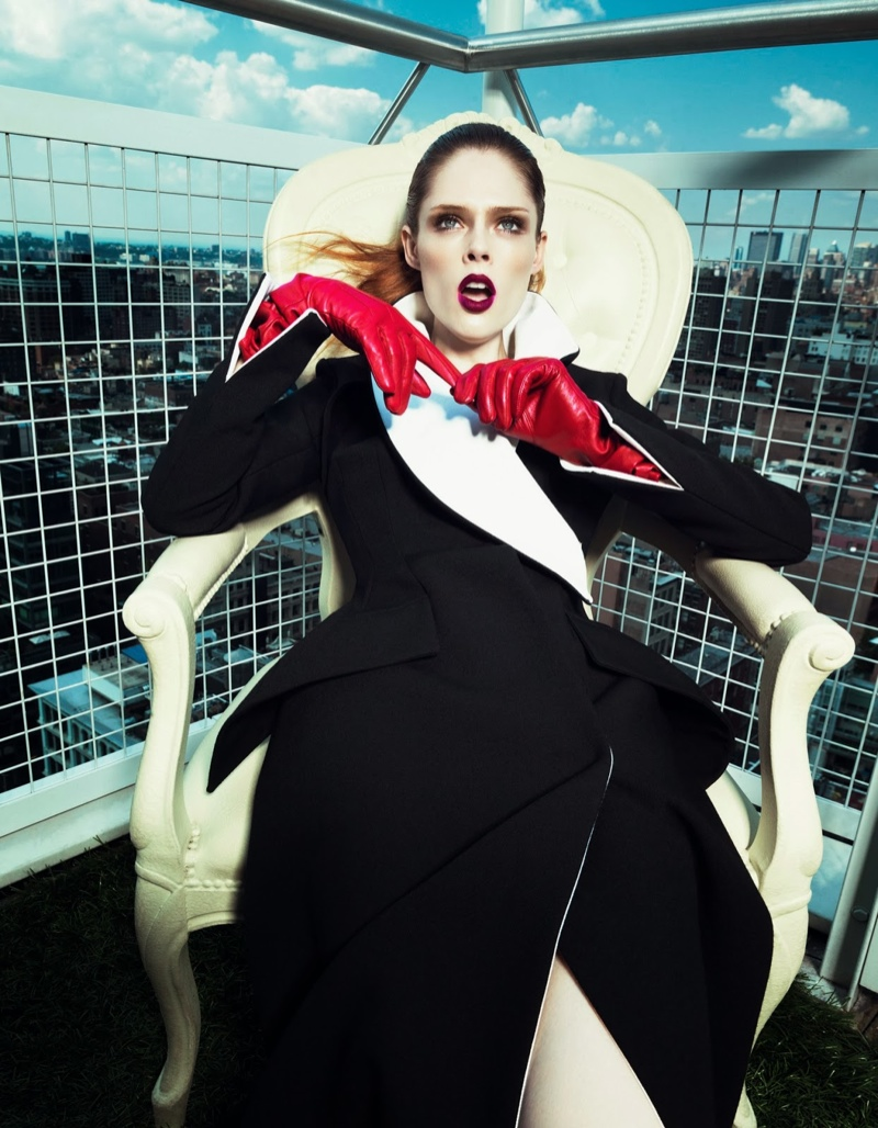 coco rocha fashion9 Coco Rocha Wows in Fall Looks for Harpers Bazaar China Cover Story