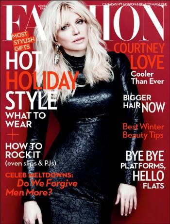 Courtney Love Covers Fashion Magazine Winter 2013 in Gucci