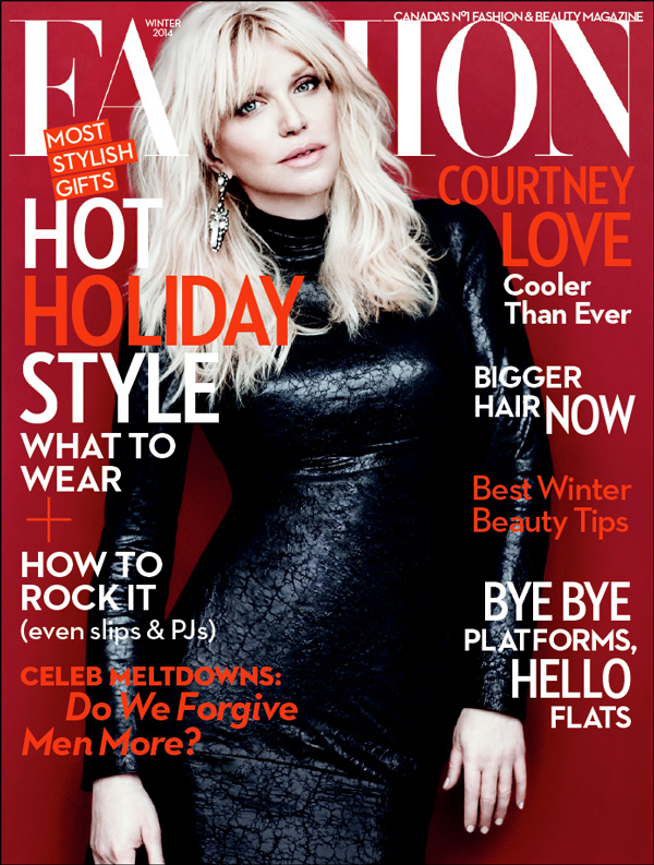 Courtney Love Covers Fashion Magazine Winter 2013 in Gucci